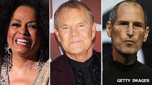 Diana Ross, Glen Campbell and Steve Jobs
