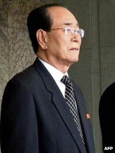 President of the Presidium of the Supreme People's Assembly Kim Yong-nam, in a file photo released by the Korean Central News Agency on 26 April 2007