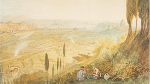 Rome from Monte Mario, 1820 - JMW Turner