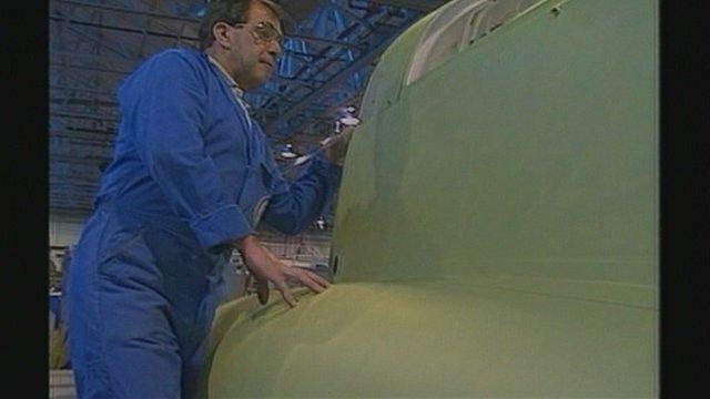 Brough aircraft worker