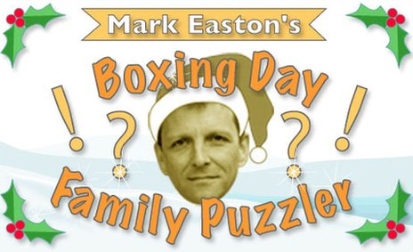 Boxing Day Puzzler