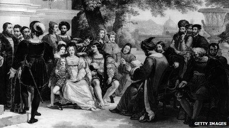 Lorenzo di Medici holding court