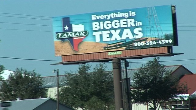Sign for Texas