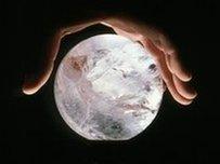 hand over globe
