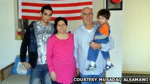 Musadaq Alsamawi and his family in Tucson