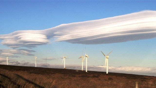 Lenticular cloud formation over Baildon Moor, west Yorkshire