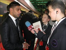School Reporter Jack interviews his hero boxer Amir Khan