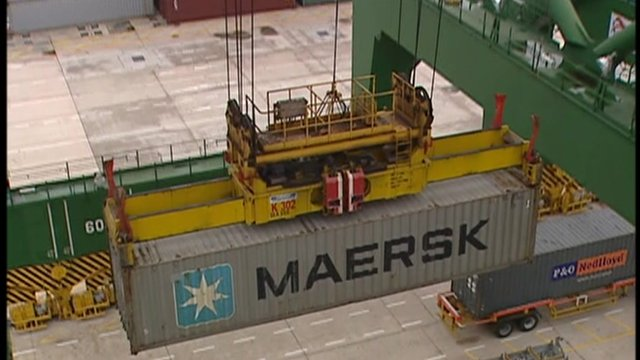 Maersk shipping container