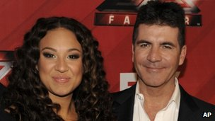Simon Cowell with Melanie Amaro