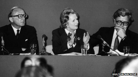 Margaret Thatcher, Peter Carrington and Geoffrey Howe