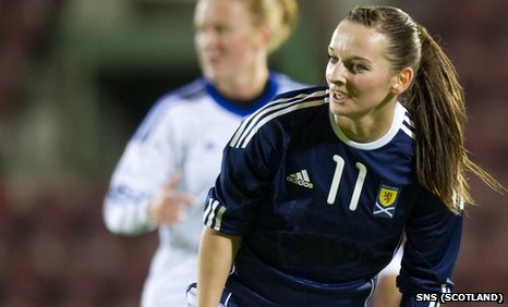 Scotland striker Suzanne Grant