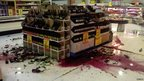 Bottles of wine smashed on floor of supermarket in Christchurch