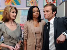Jane Asher, Michael Byrne and Jaye Jacobs in Waterloo Road