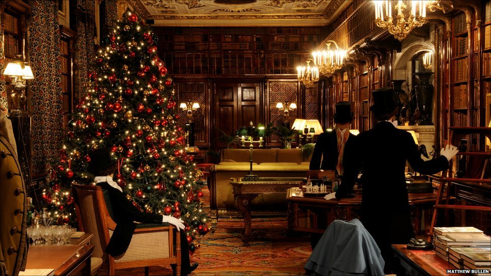 BBC News Chatsworth Houses Deck The Halls Christmas