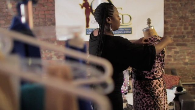 woman designing clothes