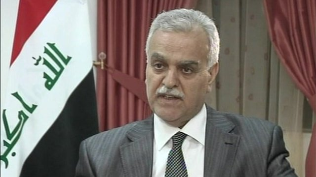 Iraq&#039;s Vice-President Tariq al-Hashemi 