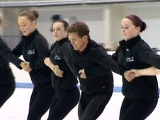 Mike Bushell and synchronised skaters