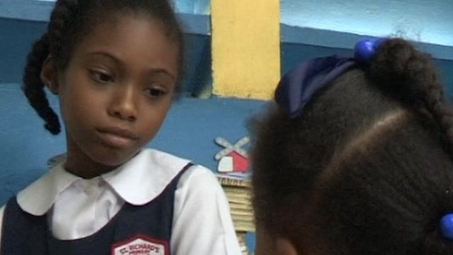Children perform Patois poem