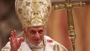 Pope Benedict celebrates Mass at the Vatican, 24 Dec