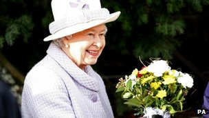 The Queen attends a Christmas Day church service