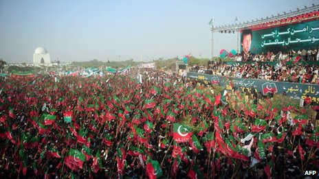 Imran Khan rally in Karachi, 25 December