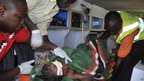 Bomb blast victim is in Suleja, Nigeria, 25 Dec