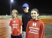 Samuel Hand (13), Oscar Bryce (14) and Gabby Craft (11)
