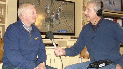 The Today programme's Rob Bonnet with racing trainer Martin Pipe