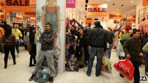 Thousands of shoppers visited Manchester's Trafford Centre