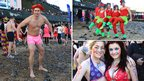 People arrived in Cromer in fancy dress for the annual dip