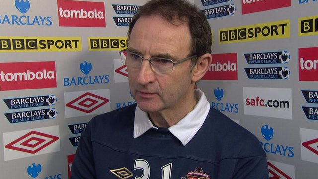 Sunderland boss Martin O'Neill