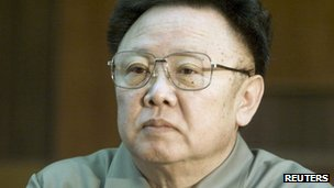 Late North Korean leader Kim Jong-il, pictured on 3 May 2011