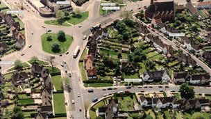 Aerial picture of Eltham shown to Old Bailey jury