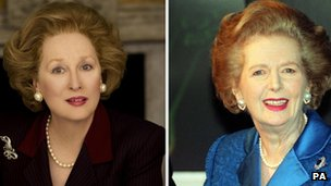 Meryl Streep as Margaret Thatcher; Mrs Thatcher in 1997