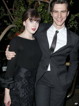 Alexandra Roach and Harry Lloyd, who play young Margaret and Denis Thatcher, at the film's premiere