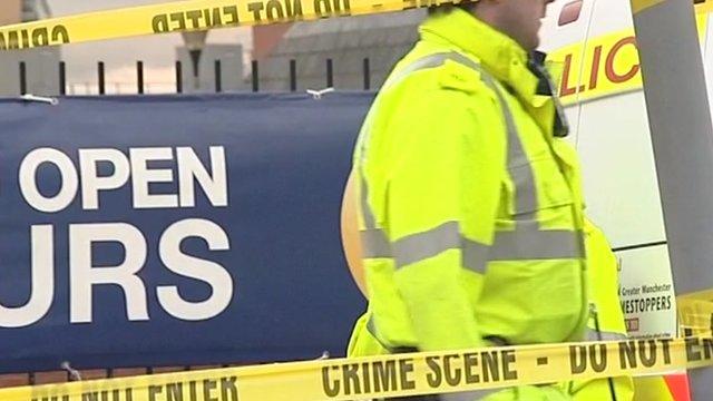 Crime scene tape in Salford