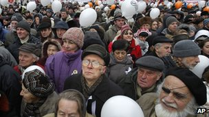 Protesters in Moscow (24 December)