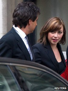 Charlotte Church leaves the Leveson Inquiry