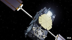 Artist impression of Galileo satellite