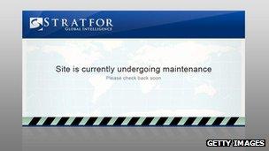 Stratfor maintenance message