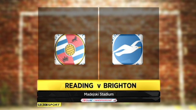 Reading v Brighton: Watch a Live Stream of the Championship match (15/09/2013)
