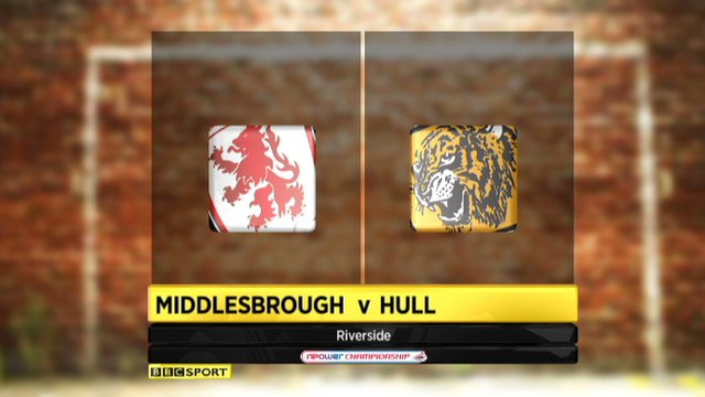 Highlights - Middlesbrough 1-0 Hull