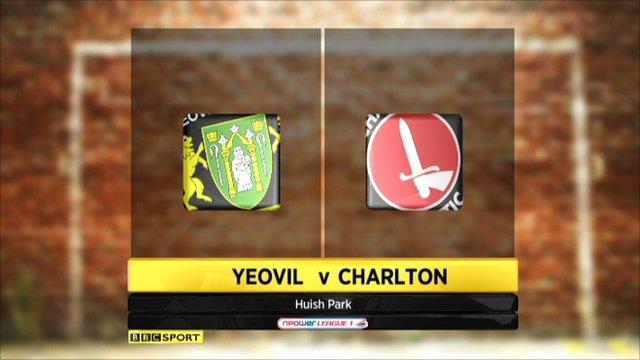 Yeovil 2-3 Charlton