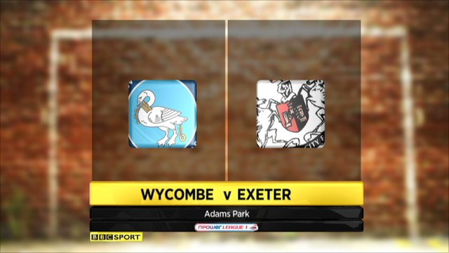 Wycombe 3-1 Exeter