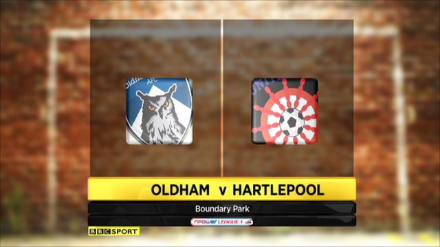 Oldham 0-1 Hartlepool