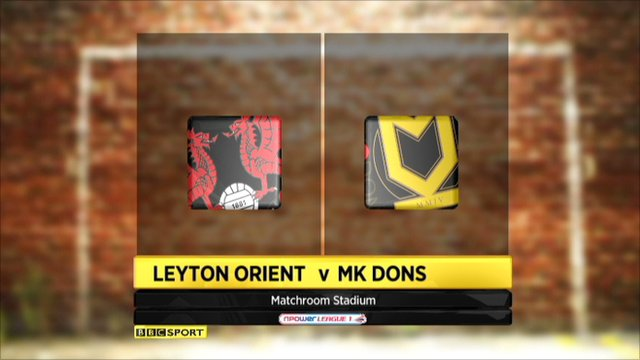 Leyton Orient 0-3 MK Dons
