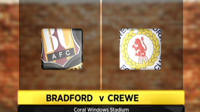 Highlights - Bradford 3-0 Crewe