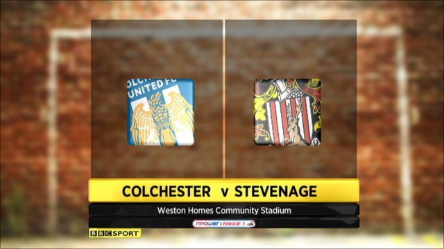 Colchester 1-6 Stevenage