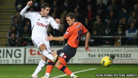 Danny Graham scores Swansea's opening goal