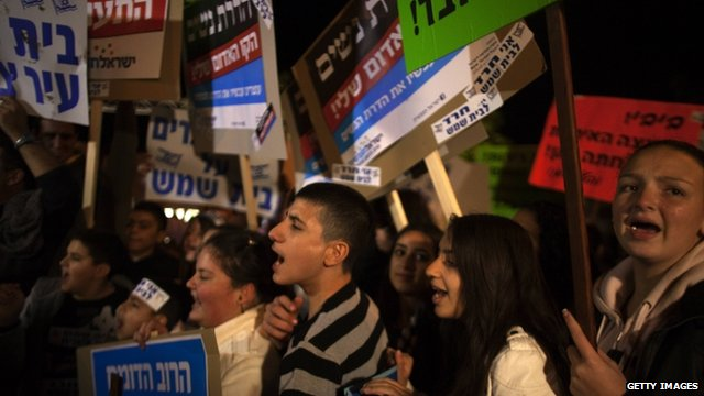 Protesters gather in Beit Shemesh